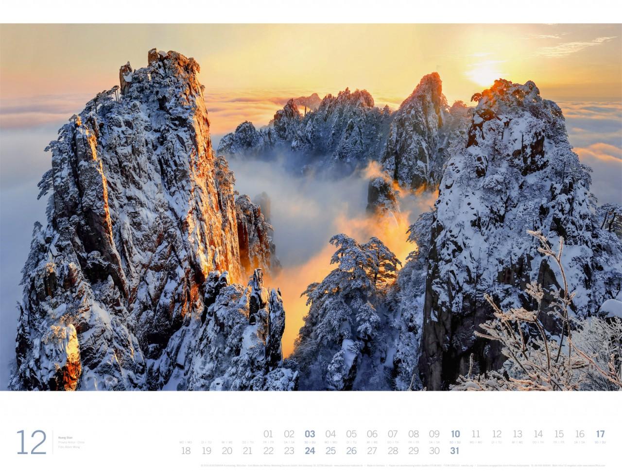 1 für 12: jetzt 3 x 1 xl panorama kalender für 2017 gewinnen ...